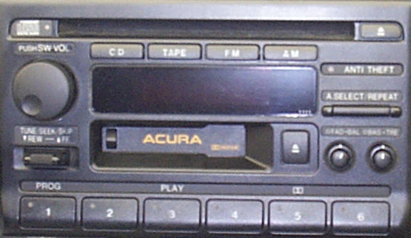 Acura TL Car Stereo and CD Player Repair