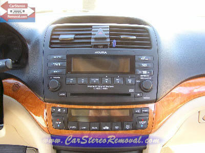 Acura TSX Do It Yourself How to Remove Car Audio
