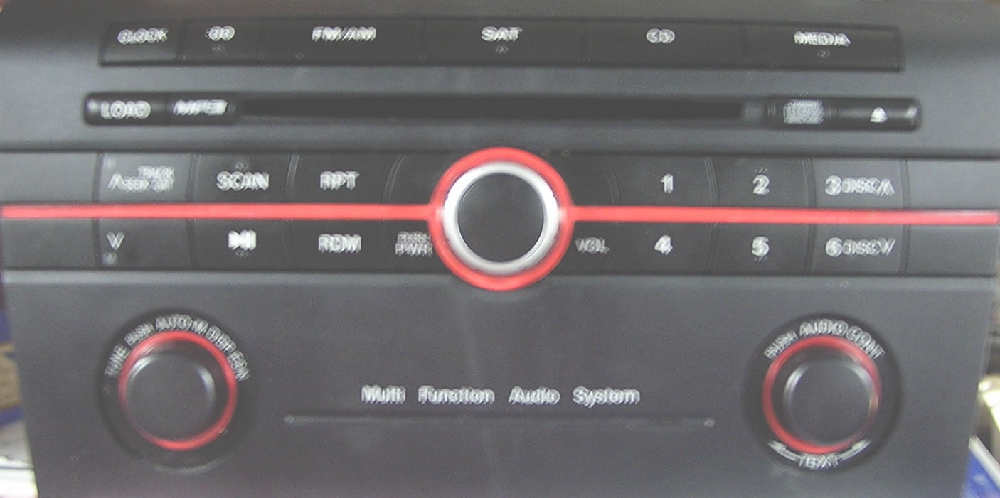Mazda 6 Sanyo Radio Repair