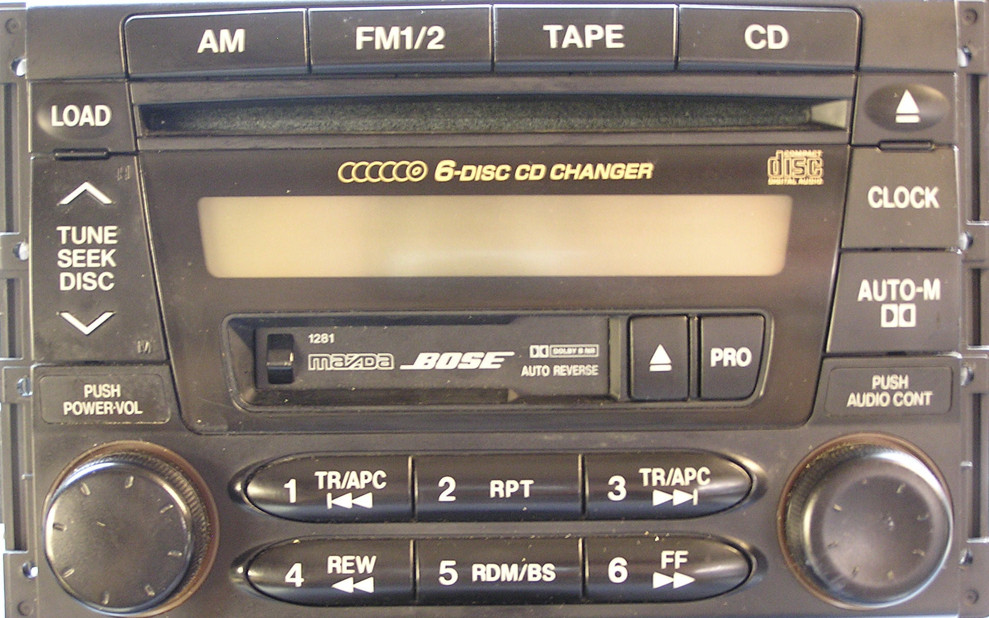 Mazda CD Player Repair and Removal